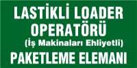 Lastikli loader operatörü, paketleme elemanı