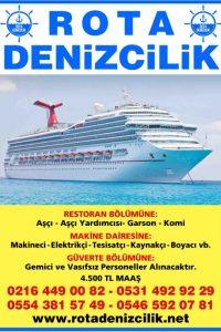 gemi personeli aranıyor, gemi personeli iş ilanları, gemi elemanı aranıyor