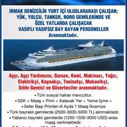gemi personeli arayan şirketler, gemi personeli iş ilanları, gemi personeli arayanlar eleman ilanları, gemi personeli aranıyor, gemi personeli alımı, gemi elemanı iş ilanları sayfası, vasıfsız gemi elemanı iş ilanları, vasıflı gemi elemanı aranıyor