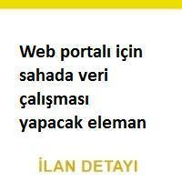saha veri iş ilanları, istanbul saha veri toplama personeli iş ilanları, veri araştırma elemanı aranıyor, web veri araştırma elemanı iş ilanları sayfası