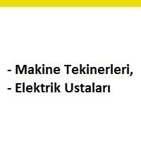 makine teknikerleri aranıyor, makine teknikeri iş ilanları, elektrik ustası arayan, elektrik ustası ilanları istanbul, makine teknikeri iş ilanları sayfası