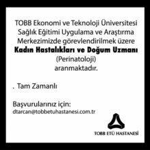 Kadın Hastalıkları ve Doğum Uzmanı - Ankara