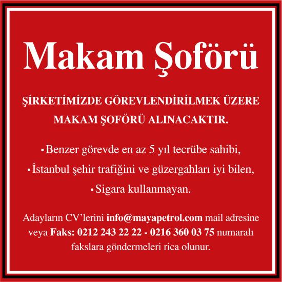 Makam Şoförü İş İlanı - İstanbul