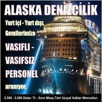 Vasıfsız İş İlanları Alaska Denizcilik firmasında çalışacak bay bayan vasıflı vasıfsız personeller aranıyor.